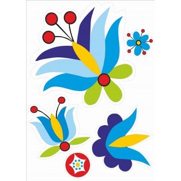 ludowe naklejki na podłogę kwiaty kaszubskie
