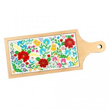 ceramiczna ludowa deska kwiaty krakowskie