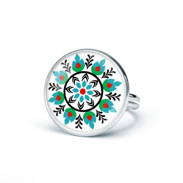 folkowy pierścionek ludowy wianek